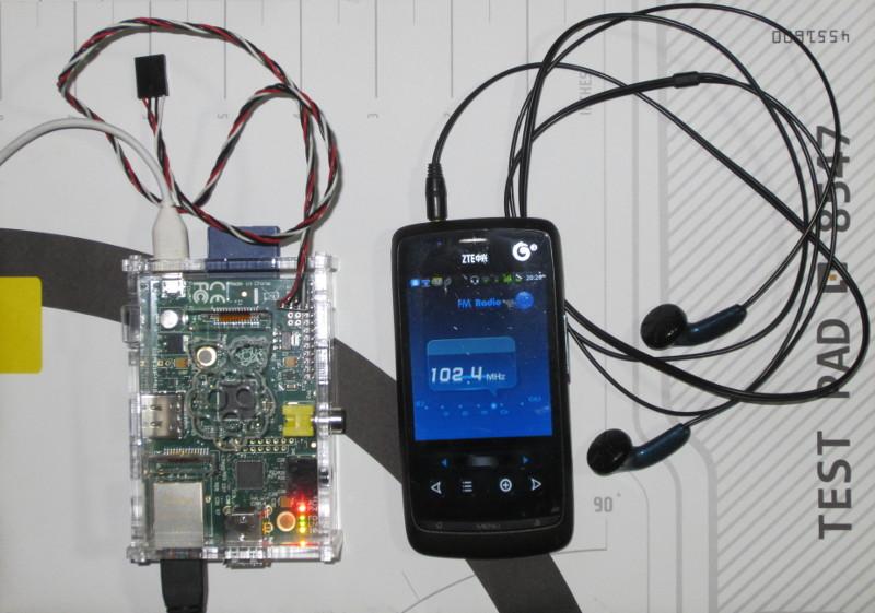 Raspberry Pi正在102.4 MHz上播放豆瓣FM的音乐